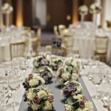 Flower decorations -photo credit Paul Raeburn Photography