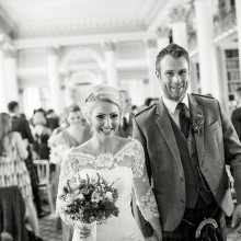 Just married at the Signet Library, Edinburgh - photo credit Marc Millar Photography