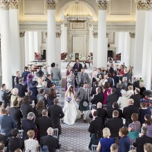 Wedding ceremonies at the Signet Library, a beautiful wedding venue in Edinburgh - photo credit Craig and Eva Sanders Photography
