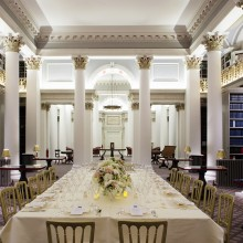 Dinner in the Lower Library - corporate events Edinburgh