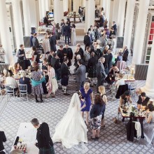 Wedding drinks and canapes reception - photo credit Craig and Eva Sanders Photography