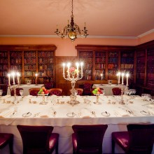 Intimate dinner setting - Commissioners' Room