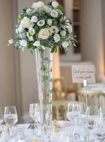 Beautiful floral centerpieces - Easter/Spring wedding at the Signet Library, Edinburgh