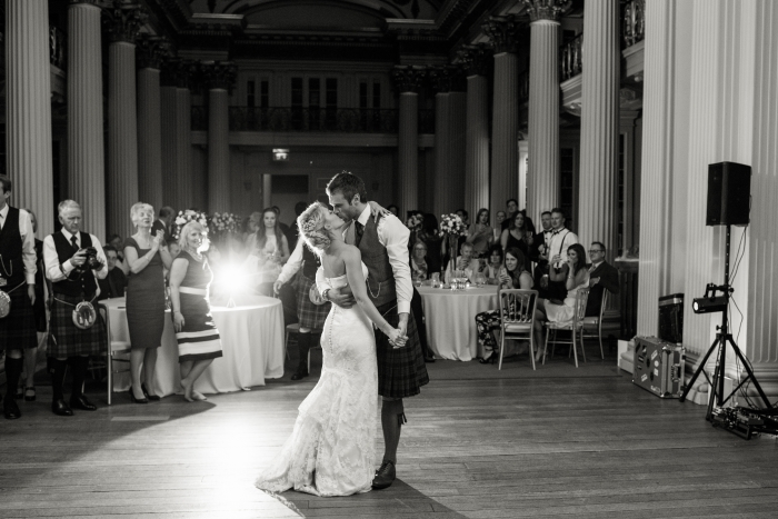 First wedding dance - Easter/Spring wedding at the Signet Library, Edinburgh
