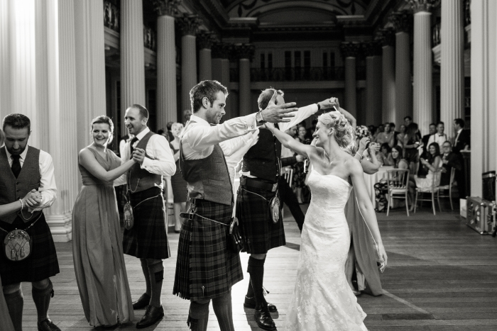 Evening reception - Easter/ Spring wedding at the Signet Library, Edinburgh