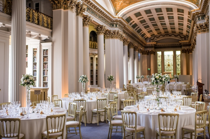 Upper Library at the Signet Library, Edinburgh - easter/spring wedding