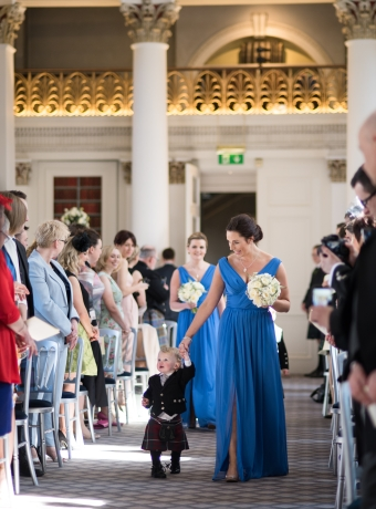 Wedding ceremony - Easter/spring wedding at the Signet Library, Edinburgh