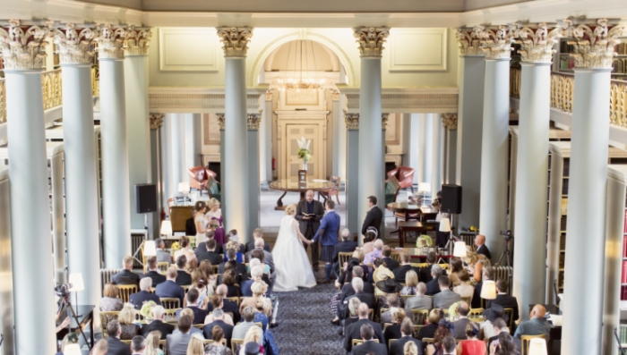 Summer Wedding Signet Library Edinburgh 1