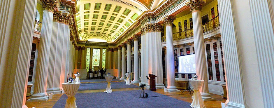 Drinks and canape receptions at the Signet Library in Edinburgh