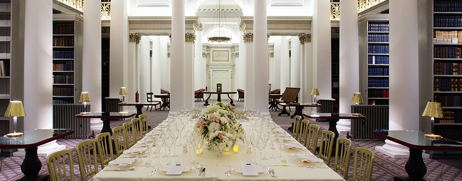Intimate dinner in the Lower Library - Signet Library, Edinburgh