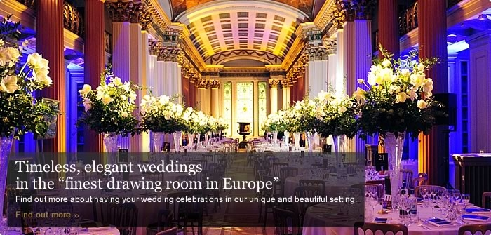 "Timeless elegant weddings in the ""finest drawing room in Europe"""